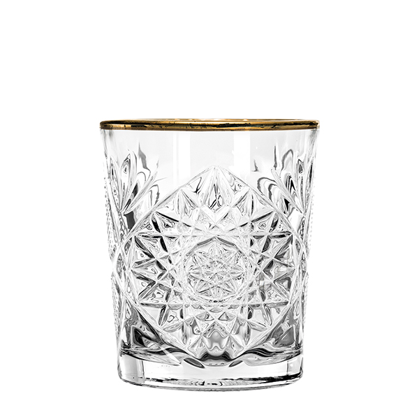 Double Old Fashioned Glas, Libbey Hobstar mit Goldrand - 355ml